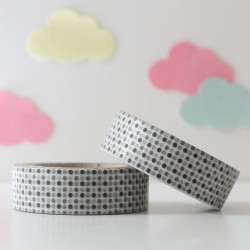 Washi tape mini topos negros